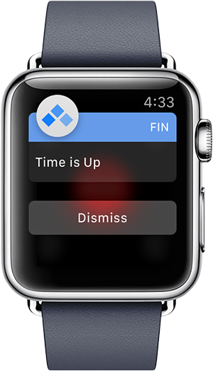 Fin on Apple Watch Showing Notification